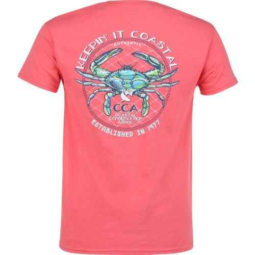 Display product reviews for CCA Men's Keepin' It Coastal Crab T-shirt