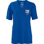 Three Squared Juniors' University of Kansas Team For Life Short Sleeve V-neck T-shirt - view number 2