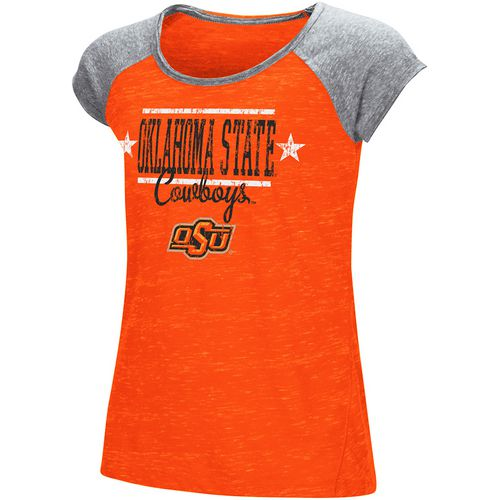 Colosseum Athletics Girls' Oklahoma State University Sprints T-shirt
