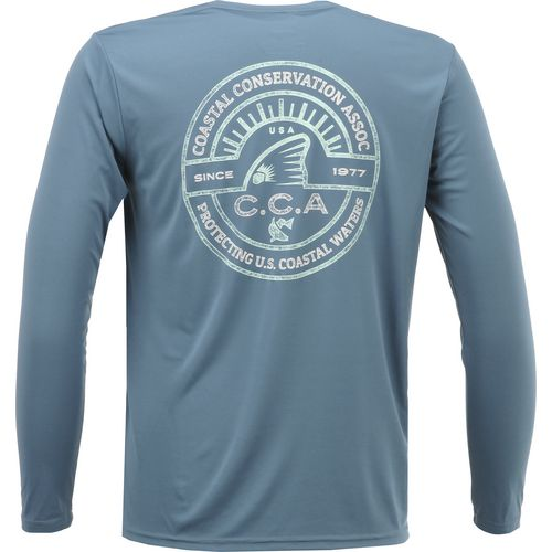 CCA Men's Performance Coastal Shine Logo Long Sleeve T-shirt