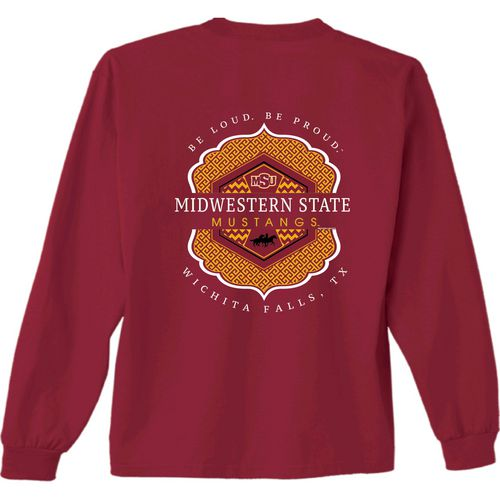 New World Graphics Women's Midwestern State University Faux Pocket T-shirt