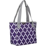 Logo Louisiana State University Quatrefoil 16-Can Cooler Tote - view number 3