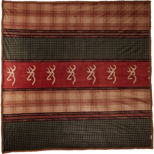 Browning Plaid Oversize 90 in x 90 in Luxury Throw
