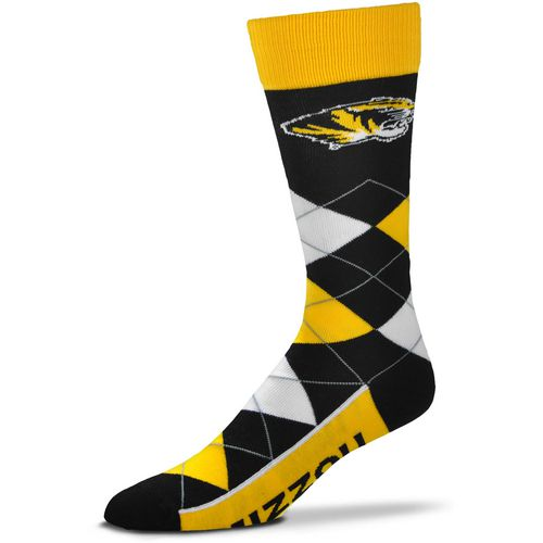 For Bare Feet Men's University of Missouri Argyle Line Up Socks