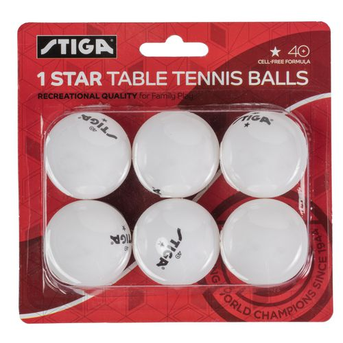 Stiga 1 star table tennis balls 6 pack academy for 1 star table tennis balls