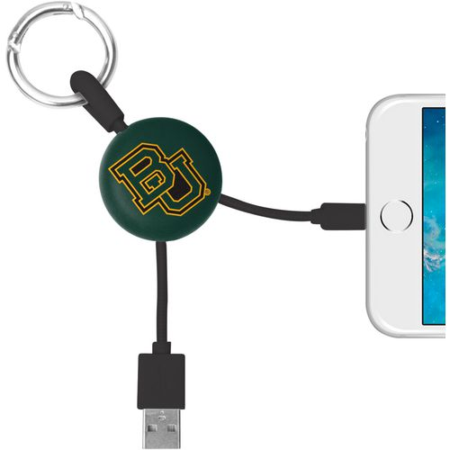 Mizco Baylor University Lightening Phone Charger Keychain Cable