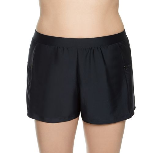 SE Rose Co. Women's Malibu Solid Plus-Size Swim Short