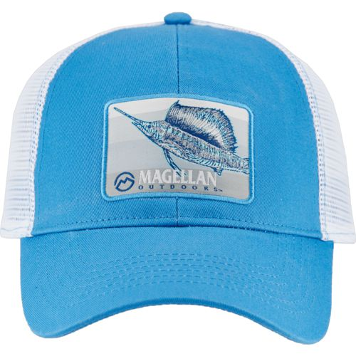 Magellan Outdoors Men's Brushed Sailfish Patch Trucker Cap
