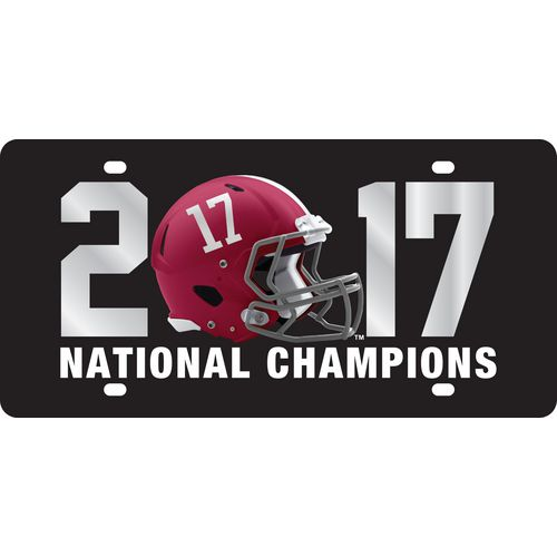 Stockdale University of Alabama 2017 CFP National Champs Helmet License Plate