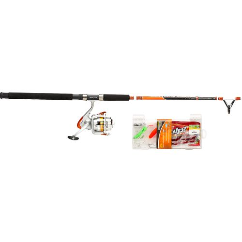 Shakespeare catch more fish 7 39 saltwater catfish spinning for Surf fishing rods and reel combos