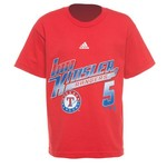 adidas Boys' Texas Rangers Ian Kinsler #5 Bat Speed T-shirt