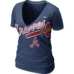 Nike Women's Atlanta Braves Deep V T-shirt