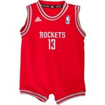 adidas™ Infant/Toddlers' Houston Rockets James Harden #13 Team Color Mesh Onesie