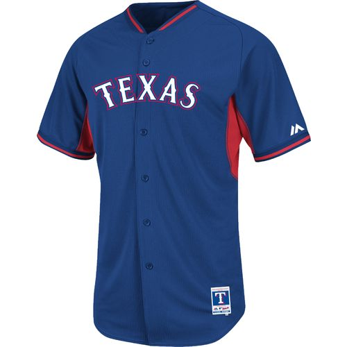 Majestic Men's Texas Rangers Cool Base® Replica Batting Practice Jersey