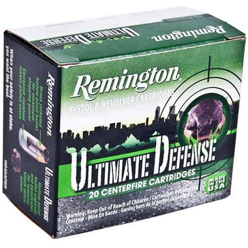 Remington Ultimate Defense .380 Automatic 102-Grain Centerfire Handgun Ammunition