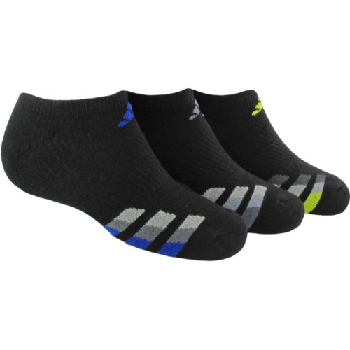 adidas™ Kids' Cushion No-Show Socks 3-Pair