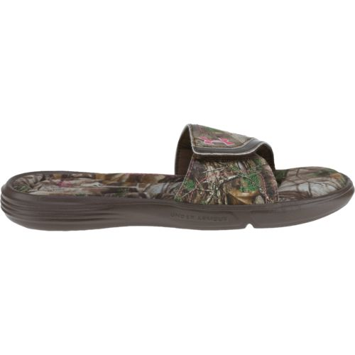 Under Armour Women's Ignite Realtree AP Xtra Camo VII SL Sports Slides