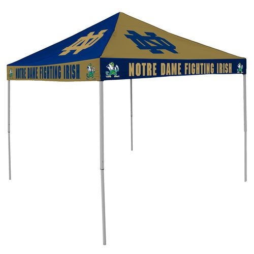 Logo University of Notre Dame Straight-Leg 9 ft x 9 ft Checkerboard Tent