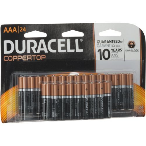 Duracell Coppertop Doublewide AAA Batteries 24-Pack