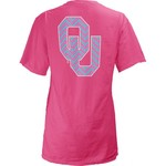 Three Squared Women's University of Oklahoma Lined Chevron T-shirt