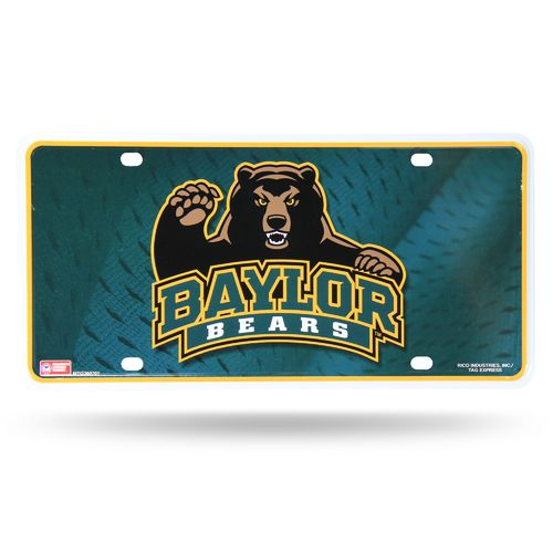 Rico Baylor University Metal Auto Tag