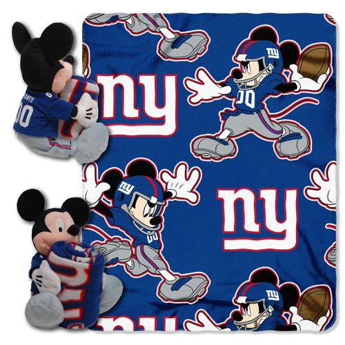 The Northwest Company New York Giants Mickey Mouse Hugger and Fleece Throw Set