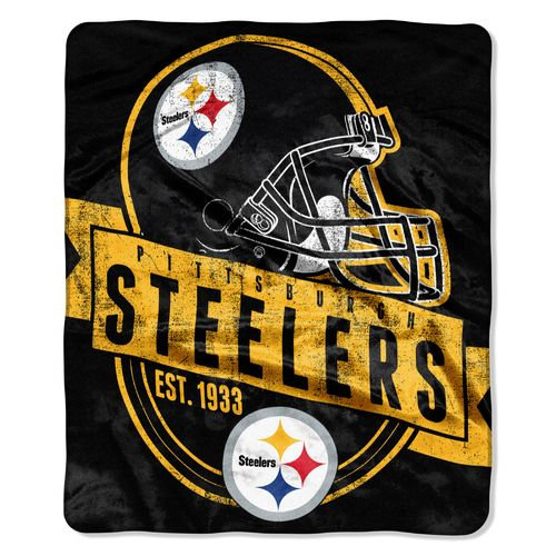 The Northwest Company Pittsburgh Steelers Grandstand Raschel Throw