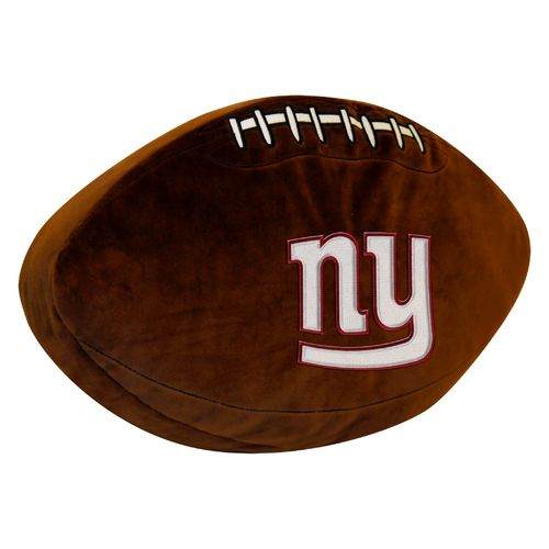 The Northwest Company New York Giants Football Shaped Plush Pillow