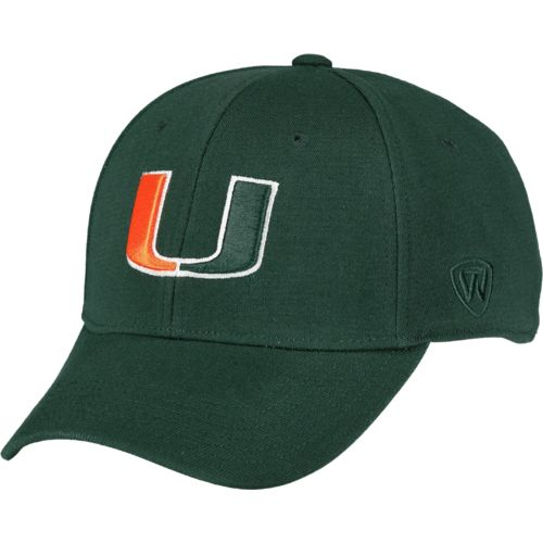 Top of the World Adultsu0027 University of Miami Premium Collection Memory Fit™ Cap  sc 1 st  Academy Sports + Outdoors & Miami Hurricanes | Academy