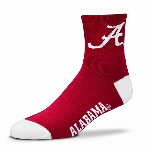 For Bare Feet Adults' University of Alabama Team Color Quarter Socks