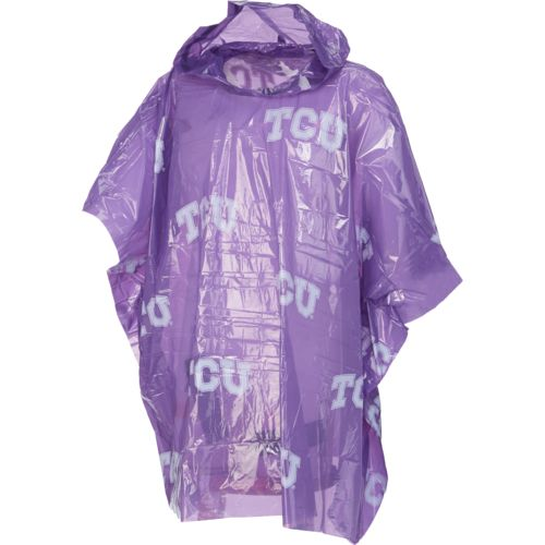 Storm Duds Adults' Texas Christian University Lightweight Stadium Rain Poncho