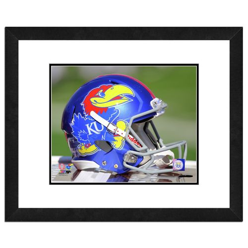 Photo File University of Kansas Helmet 16' x 20' Matted and Framed Photo
