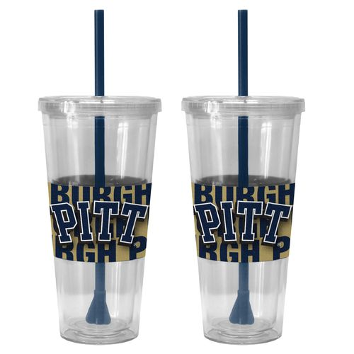 Boelter Brands University of Pittsburgh Bold Neo Sleeve 22 oz. Straw Tumblers 2-Pack