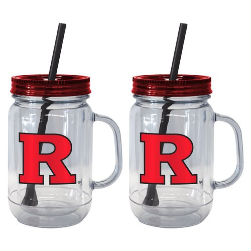 Boelter Brands Rutgers University 20 oz. Handled Straw