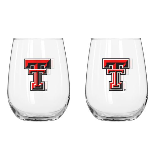 Boelter Brands Texas Tech University 16 oz. Curved Beverage Glasses 2-Pack