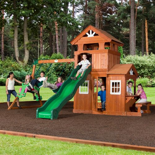 Backyard Discovery™ Shenandoah Wooden Swing Set - view number 3
