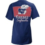 Three Squared Juniors' University of Kansas State Monogram Anchor T-shirt