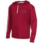 Colosseum Athletics™ Boys' University of Arkansas Sleet 1/4 Zip Hoodie Windshirt