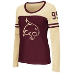 Colosseum Athletics™ Women's Texas State University Hornet Football Long Sleeve T-shirt