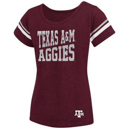 Colosseum Athletics™ Girls' Texas A&M University Fading Dot T-shirt