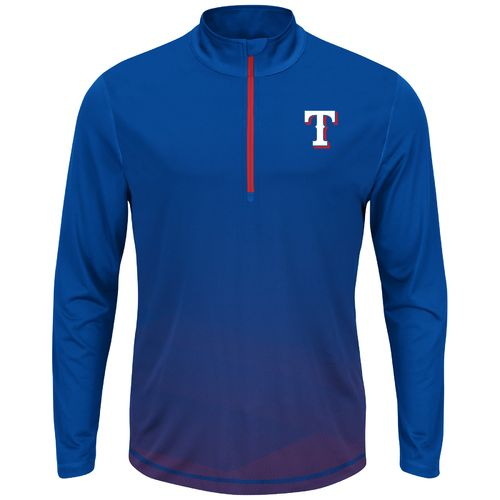 Majestic Men's Texas Rangers Good and Approved 1/2 Zip Pullover