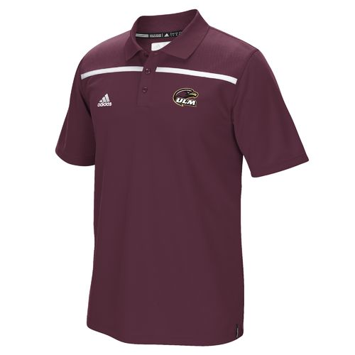adidas™ Men's University of Louisiana at Monroe Sideline Coaches Polo Shirt