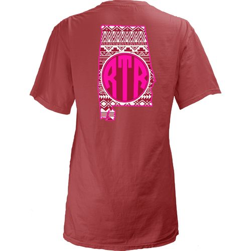Three Squared Juniors' University of Alabama Moonface Vee T-shirt