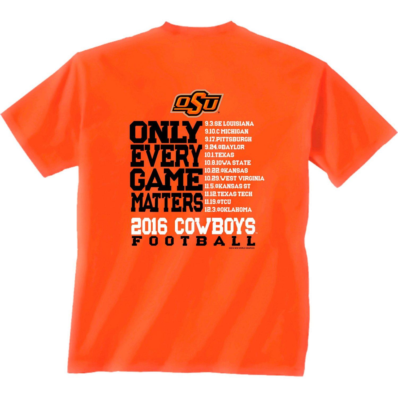 New World Graphics Men's Oklahoma State University Schedule T-shirt