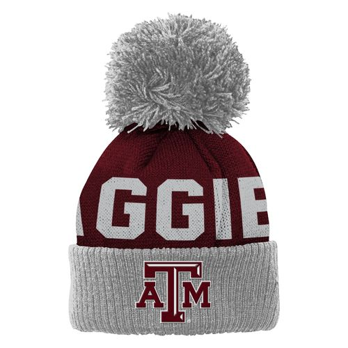adidas™ Toddlers' Texas A&M University Cuffed Knit Cap with Pom