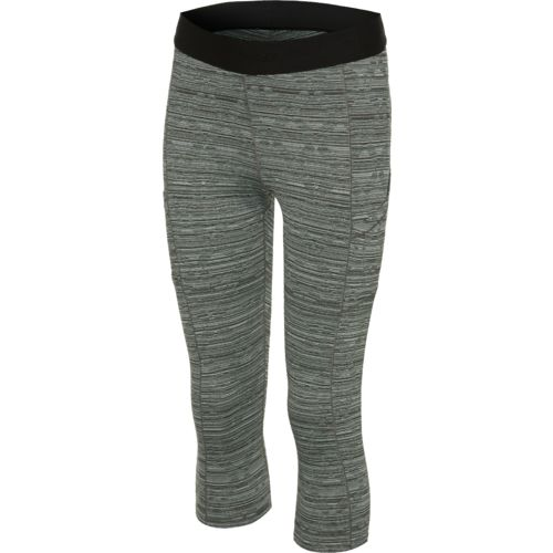 Display product reviews for BCG Women's Jacquard Exposed Elastic Capri Pant