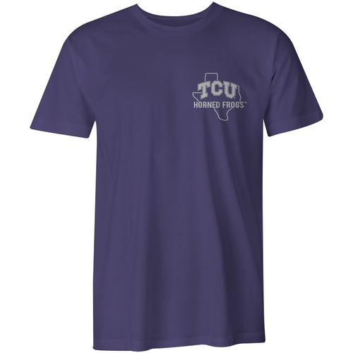 Image One Men's Texas Christian University Home State Comfort Color T-shirt - view number 2