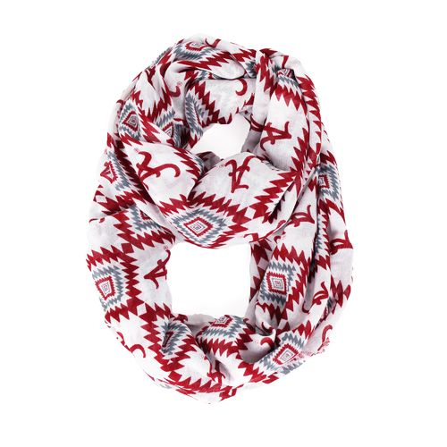 ZooZatz Women's University of Alabama Southwest Infinity Scarf