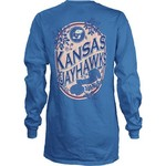 Three Squared Girls' University of Kansas Maya Long Sleeve Shirt