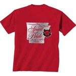 New World Graphics Women's Arkansas State University Distress CC T-shirt